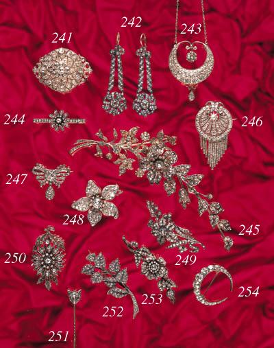 A 19th Century diamond corsage
