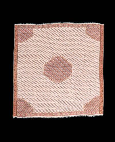 A moon shawl of ivory Merino w