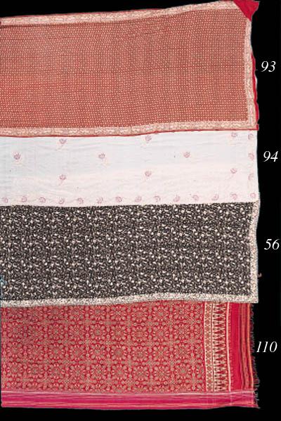 A gara sari of black silk gauz