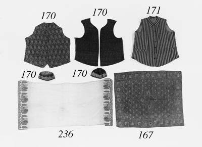 An embroidered cotton sash,