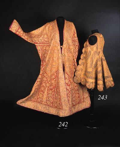A coat of red kashmir wool,