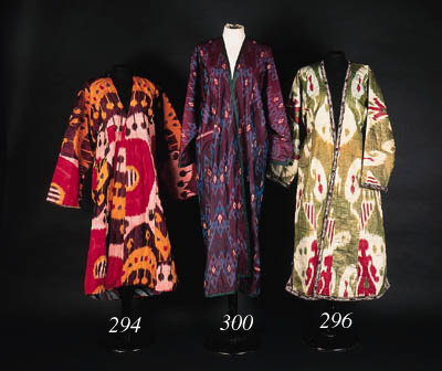 A quilted silk ikat chapan,