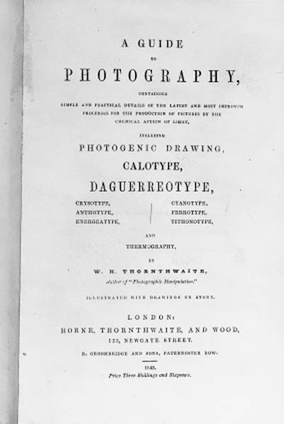A Guide to Photography contain
