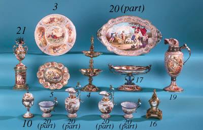 A six-piece silver-mounted Vie