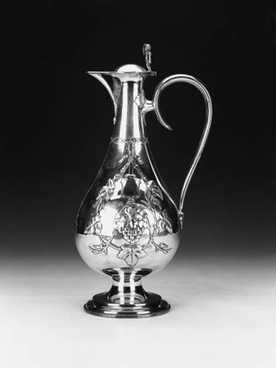 A Victorian ewer or claret jug