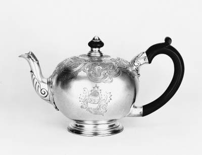 A George II bullet teapot,