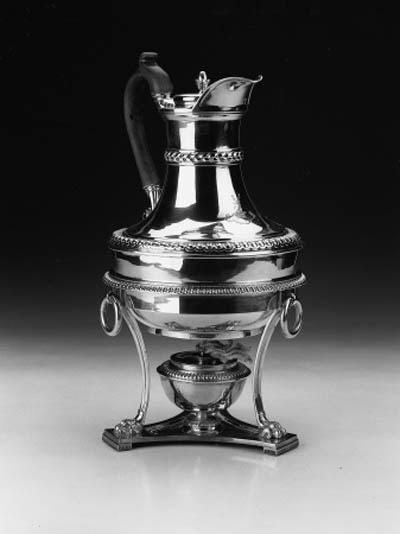 A George III vase-shaped bot w