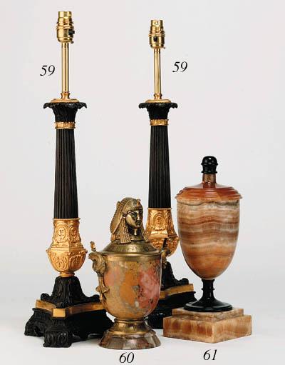 An alabastro fioretto urn and