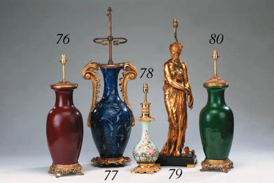 A French large gilt-spelter fi