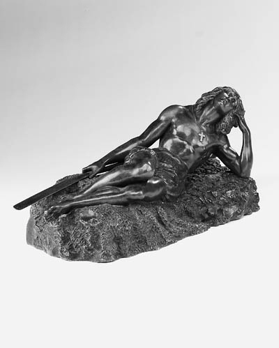 A French bronze figure of a re