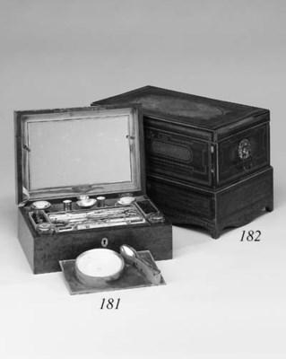 A Victorian walnut dressing bo