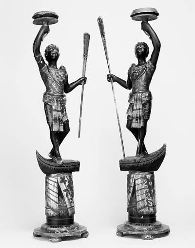 A pair of Venetian blackamoor