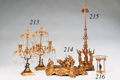 A French gilt-bronze table lam