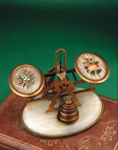 A set of Victorian gilt-bronze