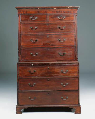 A George III mahogany tallboy