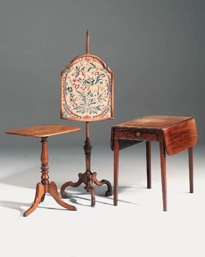 A late Regency mahogany occasi