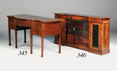 A rosewood side cabinet, parts