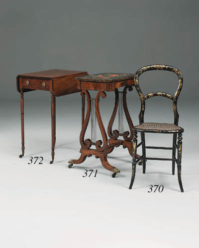 A pair of Victorian ebonised a