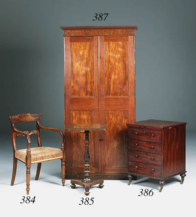 A stained beech and ivory deco