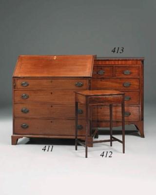 A small George III mahogany an