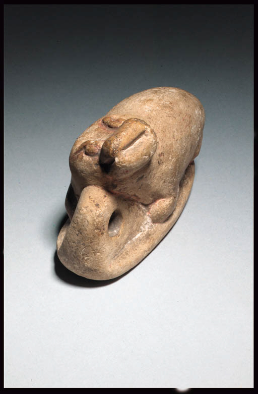 A LIMESTONE FIGURE OF A HIPPOP
