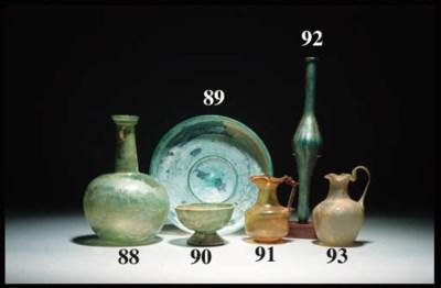 A ROMAN PALE BLUE GLASS DISH