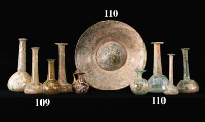 A GROUP OF ROMAN GLASS VESSELS
