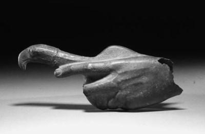 A ROMAN BRONZE HAND HOLDING A