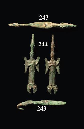 FIVE GREEK BRONZE ZOOMORPHIC B