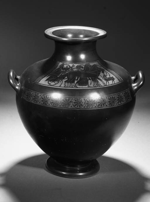 A GREEK STYLE BLACK-FIGURE KAL