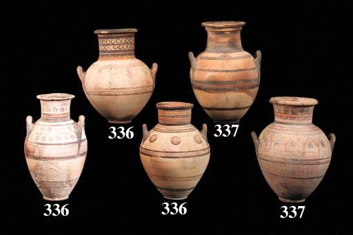 TWO CYPRIOT BICHROME WARE AND