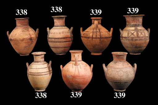 SIX CYPRIOT BICHROME WARE AMPH