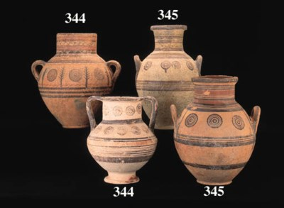 FIVE CYPRIOT BICHROME WARE AND