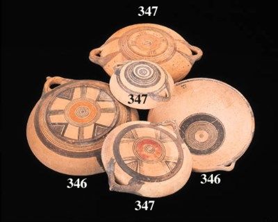 TEN CYPRIOT BICHROME WARE AND