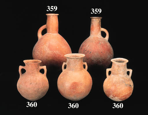 FIVE LARGE CYPRIOT INCISED AND