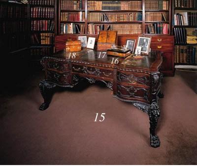 A mid-Victorian walnut desk-to