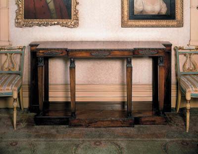 A Regency rosewood breakfront