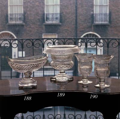 A pair of cut urns, 19th centu