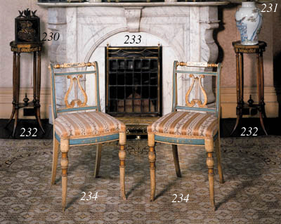 A pair of French walnut and be