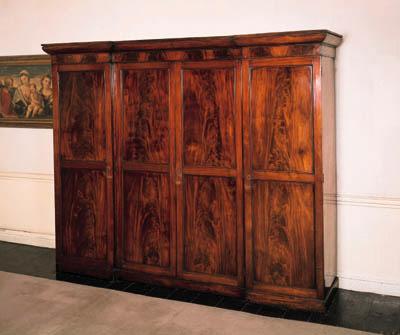 A William IV mahogany breakfro