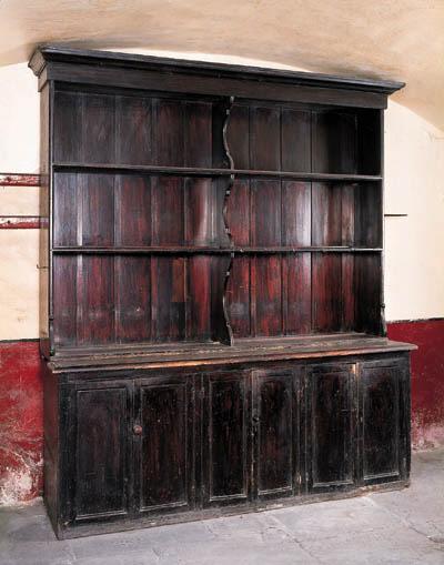 An Irish stained pine kitchen