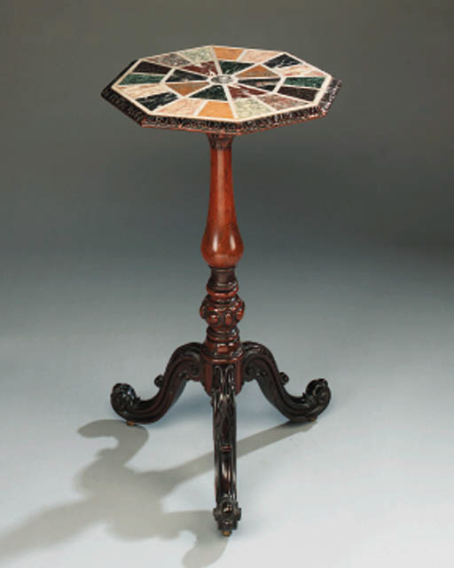 A Victorian walnut occasional