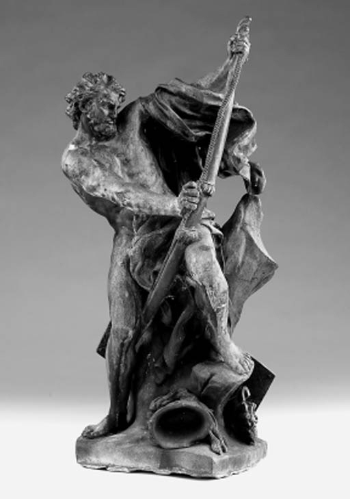 A French bronze figure of a so