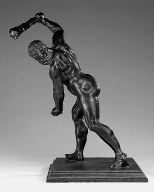A Victorian cast iron figure o