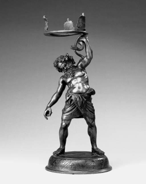 A Neopolitan bronze figure of
