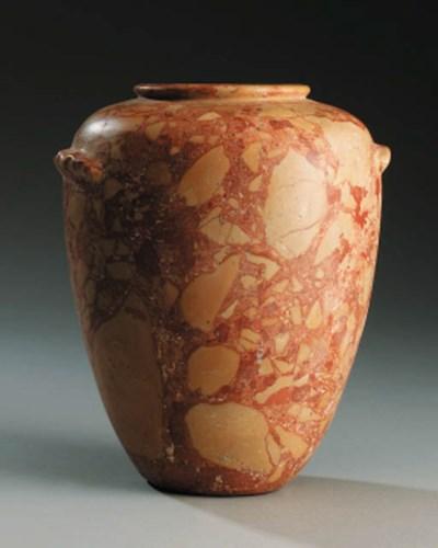 An Italian breccia marble amph