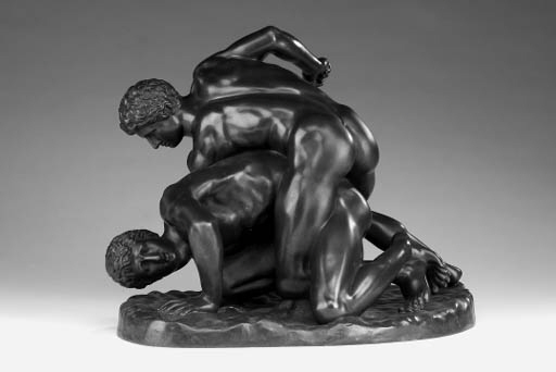 A Continental bronze group of