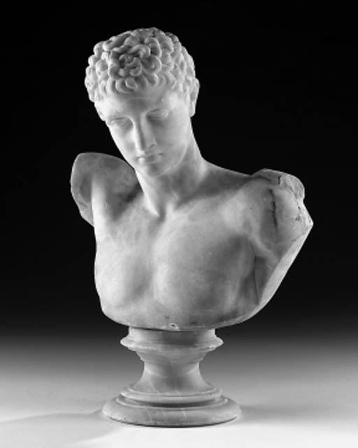 An Italian alabaster bust of H