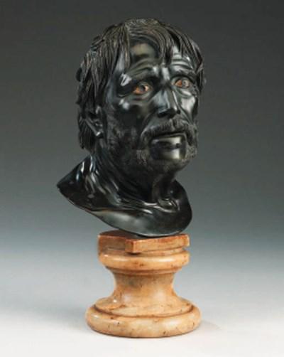 A Neapolitan bronze bust of Se