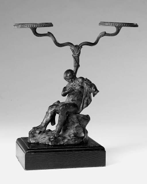 A Neapolitan bronze oil lamp b